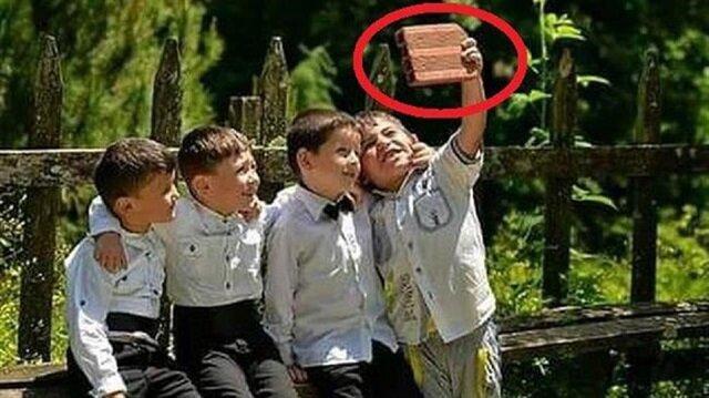 Tuğlayla selfie çeken çocukların hayalleri gerçek oldu