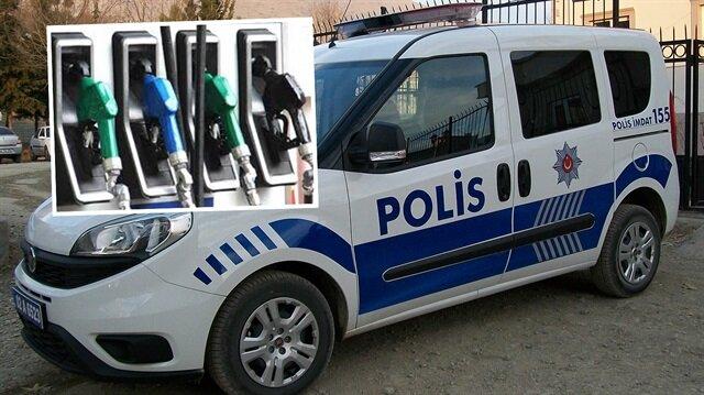 Polis otosunun yakıtını boşaltıp satan sivil polis çıkarıldığı mahkemece tutuklandı.