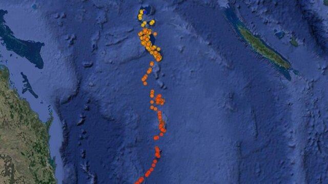 Büyük Okyanus'un güneydoğusunda yer alan Yeni Kaledonya'da 7.1 büyüklüğünde deprem oldu.