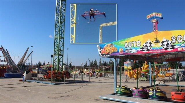 Kemerini tam takmayan ve kask istemediği iddia edilen turist kadın 18 metre yüksekten yere çakıldı.