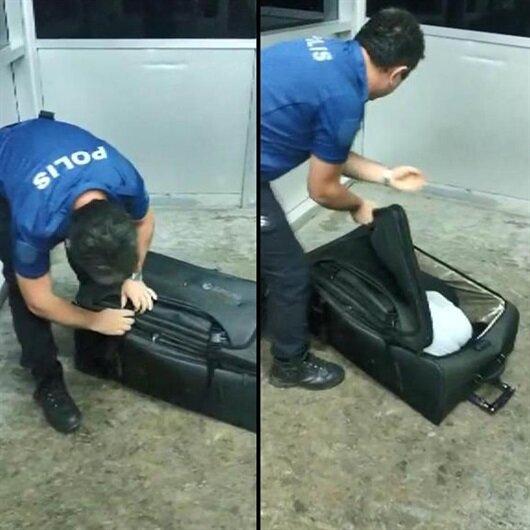 Polis valizi açınca neye uğradığını şaşırdı