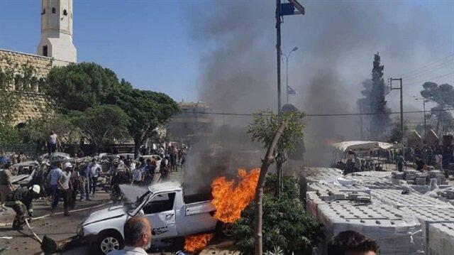 Suriye'de muhaliflerin kontrolündeki 5 bölgede patlama