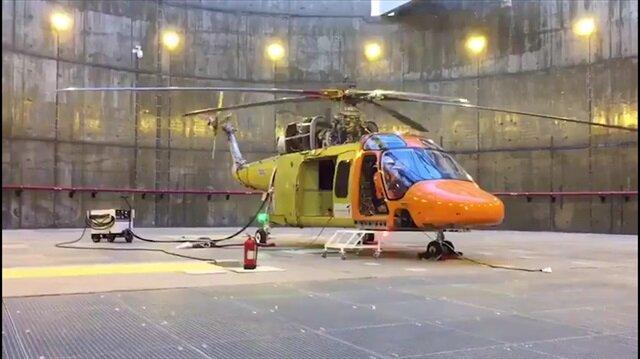 Yerli helikopter T625'in motor testi böyle görüntülendi