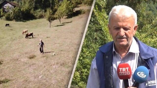 Drone'dan korkan Hasan amca konuştu