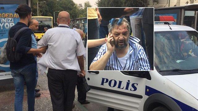 Otobüs şoförü ve yolcu tarafından darp edilen 72 yaşındaki adam sağlık ekiplerince hastaneye götürüldü.