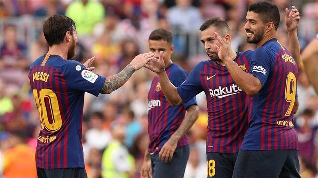 Messi'li yıldızlar topluluğu Barcelona'dan 8 gollü galibiyet.