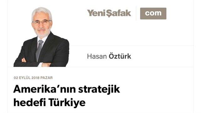 Amerika'nın stratejik hedefi Türkiye