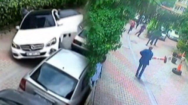 Görevli arabaya atlayınca otomobil şaha kalktı!