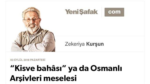 """""""Kisve bahâsı"""" ya da Osmanlı Arşivleri meselesi"""