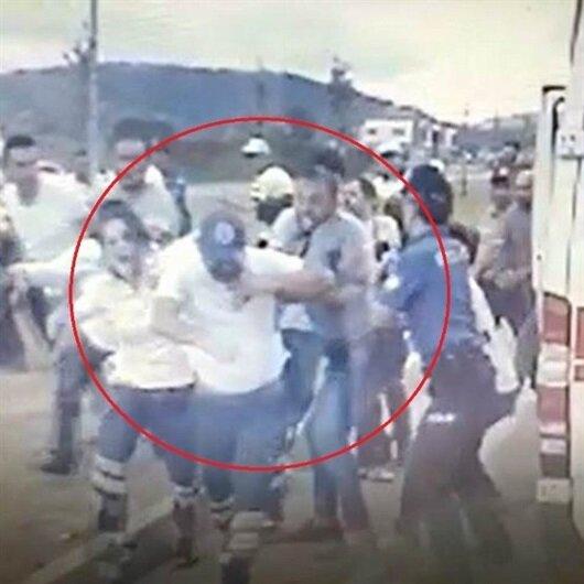 Ambulans şoförünü darp eden kişi serbest bırakıldı