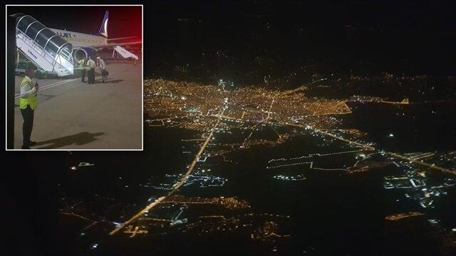 Ankara'dan kalkan uçak, pistin GPS hatası vermesi nedeniyle Kahramanmaraş yerine Gaziantep'e iniş yapabildi.