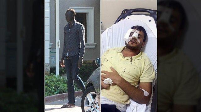 Antalya'da Sudanlı bir kişi eline geçirdiği parke taş ile etrafındakilere saldırdı.