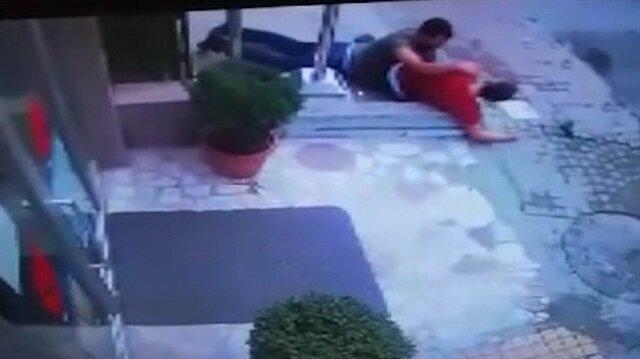Polisle astsubayın cinayetle sonlanan kavgasında dehşet anları kamerada