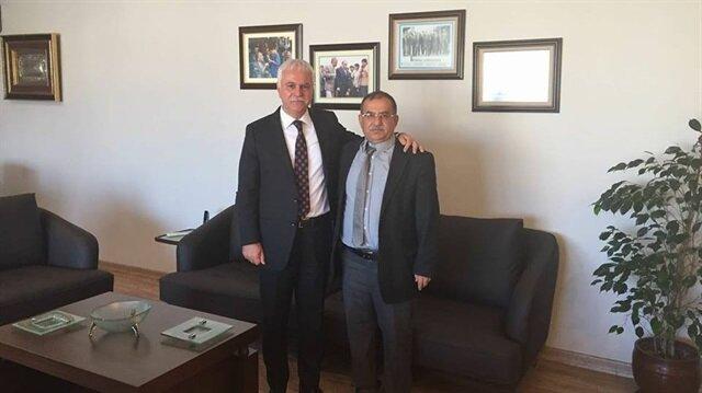 İYİ Parti Şanlıurfa İl Başkanı Rüstem Coşkun (sağda)