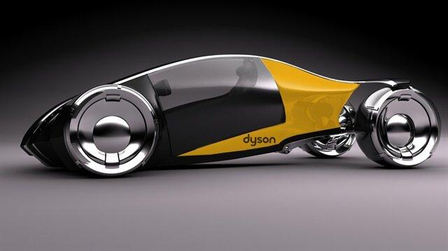Dyson elektrikli otomobil için yapılan bir konsept çizim.