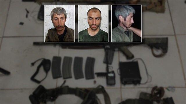 Şırnak'taki operasyonda sağ olarak yakalanan teröristlerin görüntüleri ilk kez yayınladı.
