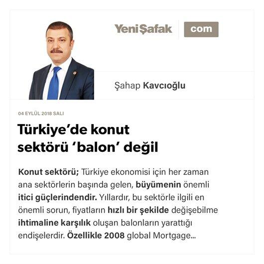 Türkiye'de konut sektörü 'balon' değil