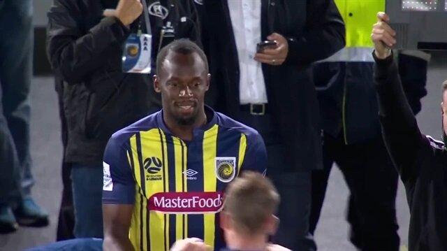 Usan Bolt ilk resmi futbol maçına çıktı