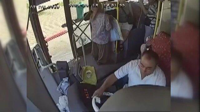 Otobüste baygınlık geçiren yolcuyu şoför hastaneye yetiştirdi