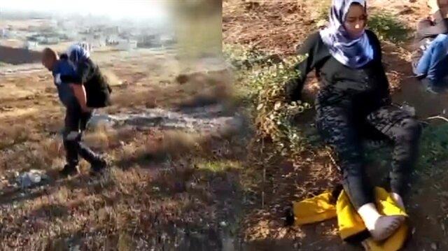 Kahraman polis yaralı kadını sırtında taşıdı