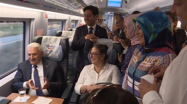 Binali Yıldırımın hızlı tren anısı kahkahaya boğdu