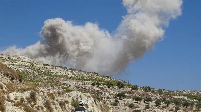 Esed İdlib'i vurmaya başladı