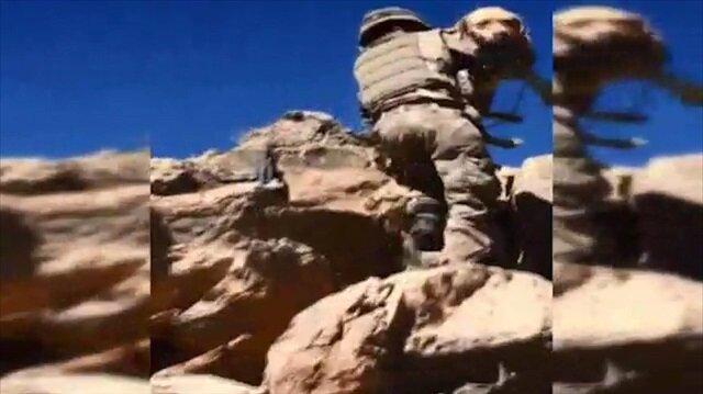 Mehmetçik Yay ile dağlarda terörist avında