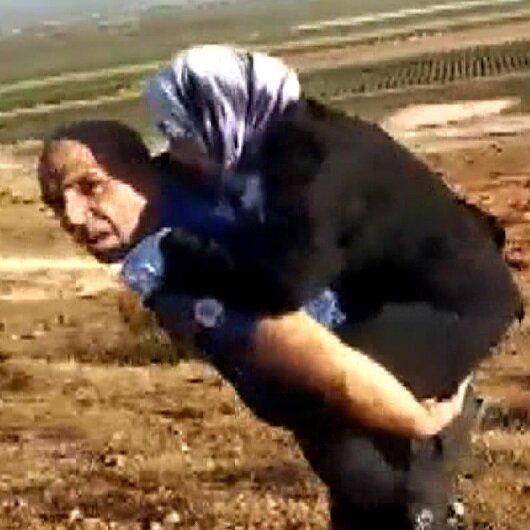 Yaralı Suriyeli kadını sırtında taşıyan polis konuştu