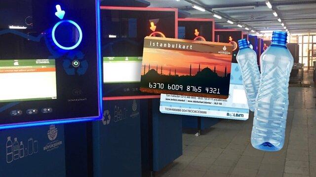 Pet şişeler İstanbul'da ulaşım biletine dönüşüyor