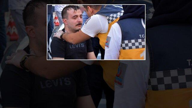 Kazanın ardından şok geçirip bayılan sürücü sağlık ekiplerince hastaneye kaldırıldı.