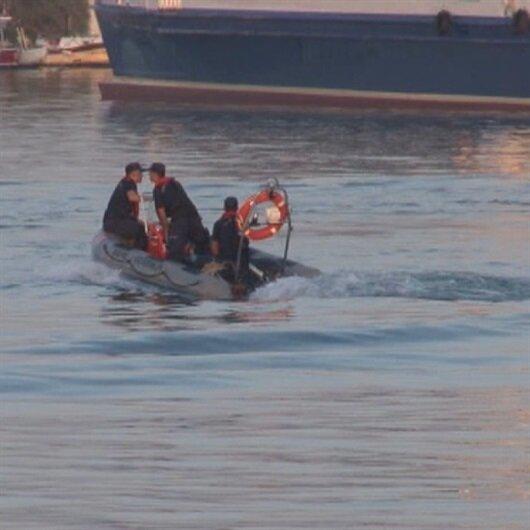 Denize düşen helikopterin enkazı kaldırılıyor