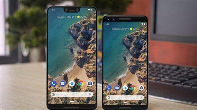 Google'ın 9 Ekim'de tanıtacağı Google Pixel 3 ve Google Pixel 3 XL'e ait olduğu iddia edilen telefonlar