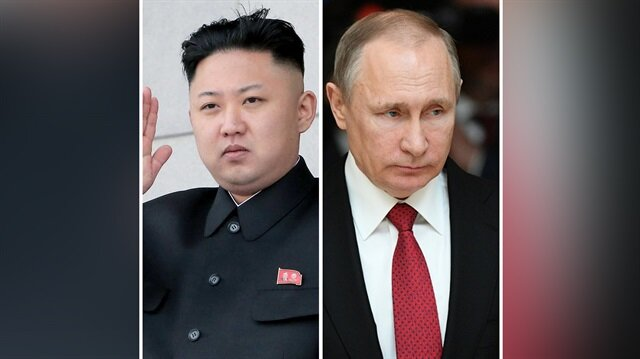 Kuzey Kore lideri Kim Jong Un ve Rusya Devlet Başkanı Vladimir Putin
