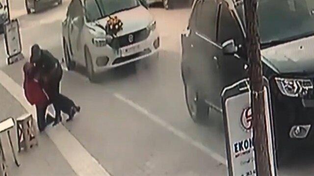 Gelin arabasıyla soygun girişimi kamerada