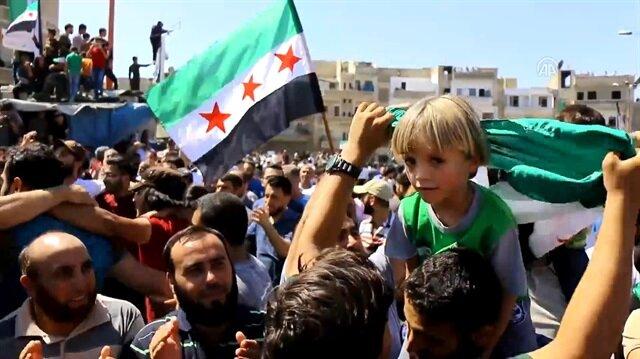 Anti-regime protests in Syria's Idlib