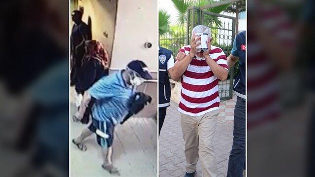 Hasta taklidi yapan yüzü maskeli adam, 15 TL çalmasının ardından polislerce yakalandı.