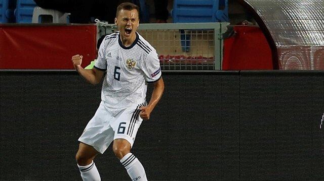 A Milli Takımımıza Uluslar Ligi'ndeki ilk golü Cheryshev atmıştı.