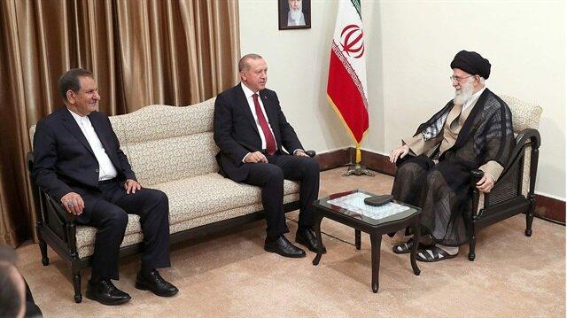 Cumhurbaşkanı Recep Tayyip Erdoğan ve İran dini lideri Ayetullah Ali Hamaney