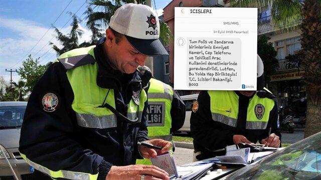 Trafik konusunda bilinçlenme yönünde adım atan bakanlık vatandaşlara bu kez SMS ile ulaştı.