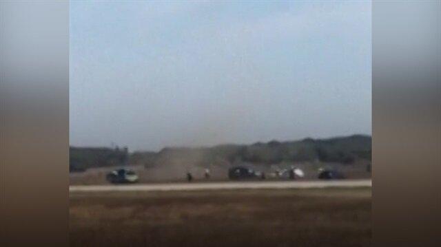 Fransa'da panik: Araç havalimanı pistine girdi!