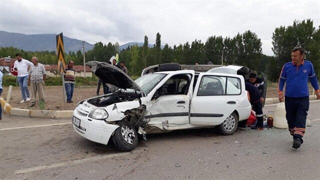Tokat'ta trafik kazası meydana geldi.