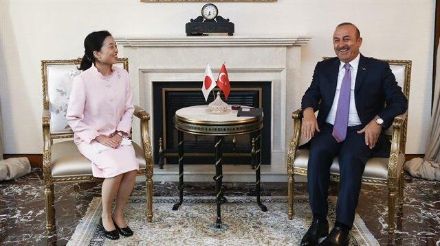 Çavuşoğlu Japonya Prensesi ile görüştü
