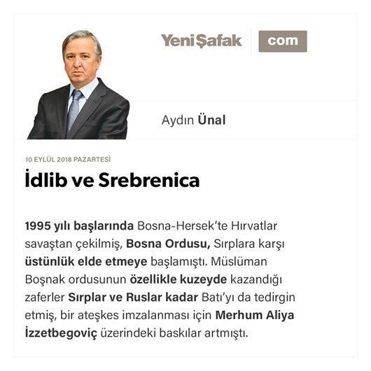 İdlib ve Srebrenica