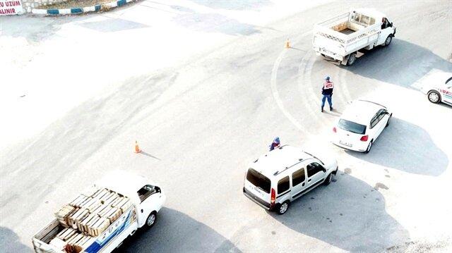 Jandarmadan dronela trafik denetimi