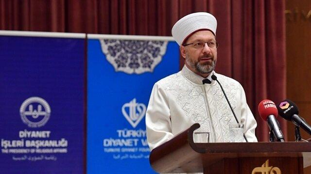 Diyanet İşleri Başkanı Ali Erbaş, öğrencilere Hazreti Muhammed'in hayatını okuma tavsiyesinde bulundu.