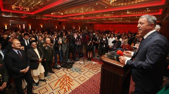 Milli Savunma Bakanı Hulusi Akar, Afganistan Bağımsızlık Günü Resepsiyonu'na katıldı.