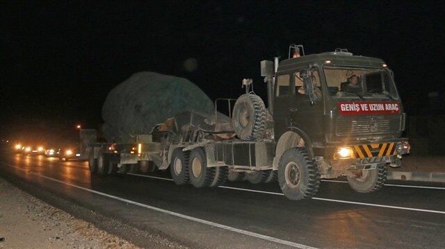 Arşiv: Suriye sınırındaki birliklere takviye askeri araç gönderimi devam ediyor.