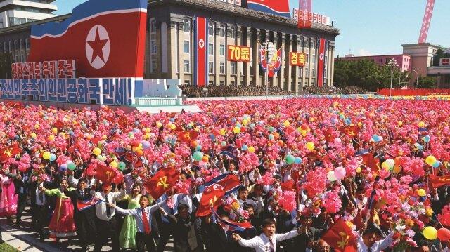Kuzey Kore, Cumhuriyetin 70'inci Kuruluş Günü'nü kutladı.