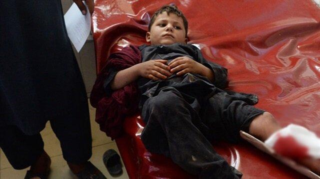 Saldırıda yaralanan bir çocuk hastanede tedavi altına alındı.