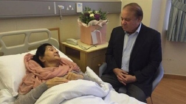 Kulsoom Nawaz Sharif and Nawaz Sharif